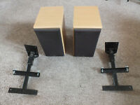Denon (Mission) Speakers SC-M 50 + AVF Wall Brackets
