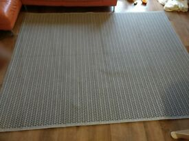 Black and white rug, 2.52m by 1.98m