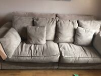 4 seater couch, armchair and foot stool