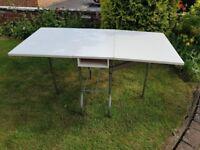 White Melamine Kitchen or Craft table