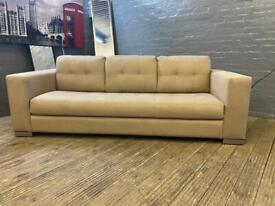 LOVELY FABRIC SOFA IN NICE CONDITION 3 SEATER