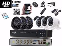 6Full HD CCTV Cameras Package Clear Image Night Vision +2TB HDD