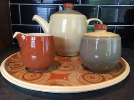 Denby tea set and platter