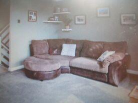 Corner Sofa & Stool to match