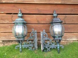 imitation metal garden wall lights.