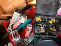 Job lot of power tools, hand tools and equipment - retirement sale.