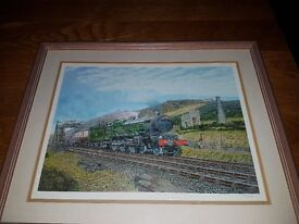 limited edition railway print the cornishman with the cerificate