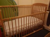 Cot bed included mattress