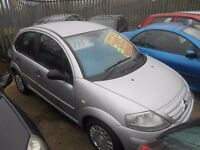citroen c3 sx 1400cc 55 plate in silver metalic 5dr mot dec 2017