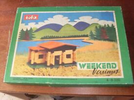 Build your Own Wooden Cabin by Tofa 1970's Vintage Toy