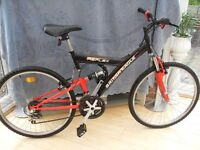 ADULTS GOOD QUALITY BRITISH EAGLES REFLEX FULL SUSPENSION MOUNTAIN BIKE IN VERY GOOD CONDITION.