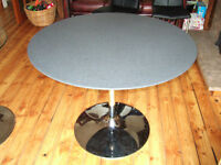 Next Granite effect top round table.
