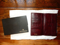 Gents Leather Wallet - Burgundy Goat Leather