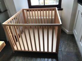Classsic wooden playpen - 2 base heights. Great for keeping your child safe when you are busy.