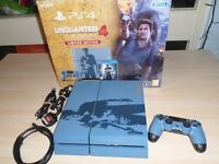 PLAYSTATION 4 SPECIAL EDITION UNCHARTED 1TB CONSOLE (NO GAME INCLUDED)
