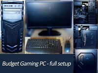 Gaming PC - monitor, keyboard and mouse included
