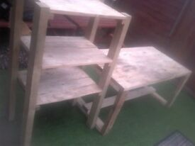 workshop bench and shelf