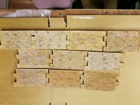 10 x Model Scenic Brick Wall Sections