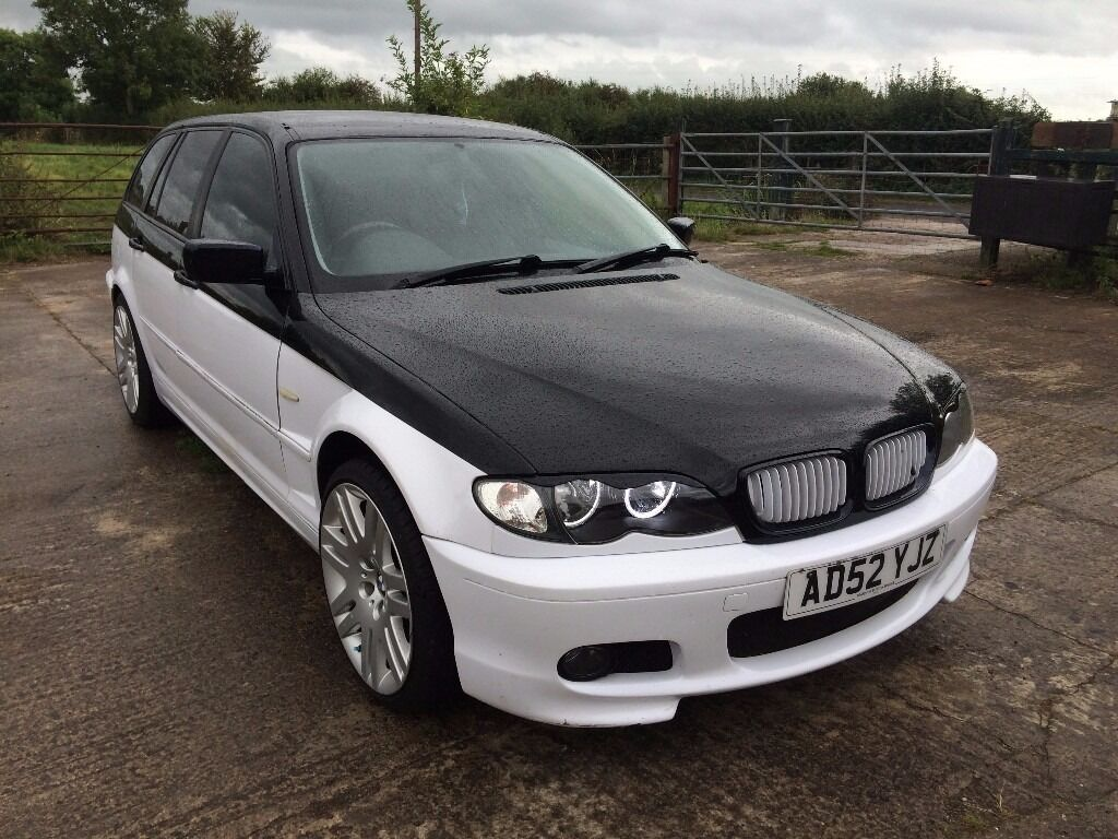 2002 bmw 3 series e46 318i touring 2 0l estate petrol modified leather white in bridgwater. Black Bedroom Furniture Sets. Home Design Ideas