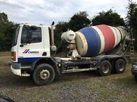 Daf 75 cf, 6x4 concrete mixer 2001 y reg, manual pump
