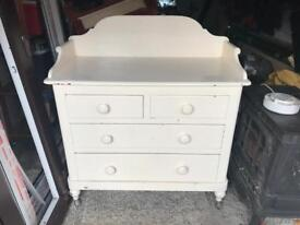 Cream Painted Pine Chest of Draws