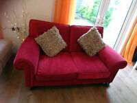 Laura Ashley Cranberry Velvet 2 Seater Sofa, DELIVERY AVAILABLE