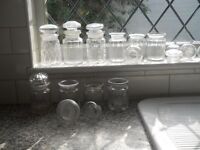 victorian glass pickle jars preserve victorian georgian some cut collection of 11
