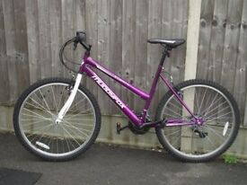 LADIES MUDDY FOX BIKE - ONLY RIDDEN A COUPLE OF TIMES