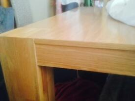 Large beech coloured table
