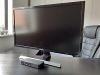 "SAMSUNG UE590 28"" UHD 4k Monitor + Dell D3100 docking station"