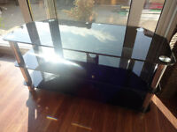 Glass TV - 3 shelves