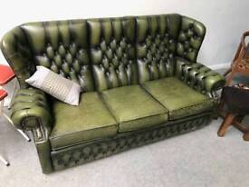 Chesterfield high back three seater sofa
