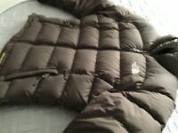 Brown north face puffer jacket size small very rare