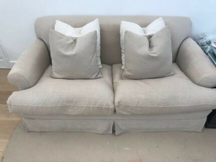 Custom Made 2/2.5 seater French Linen Sofa