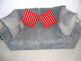 French Double Sofa Bed in A1 condition. Plush Grey Velvet. No marks or stains. Animal Free home.