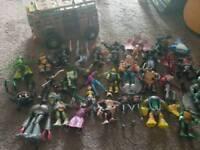 Bundle of teenage mutant ninja turtles toys