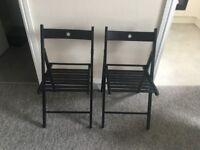 2x folding chairs - wood - condition: brand-new