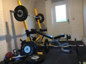 Full Olympic bumper weight home gym 175kg