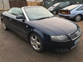 Audi A4 1.8T Sport 1781cc Petrol Automatic 2 door Convertible 03 Plate 25/03/2003 Red