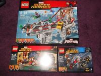 Lego Spiderman 76057 Dr Strange 76060 Batman Harley Quinn 76053
