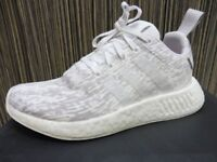 Womens Adidas NMD R2 Grey White Primeknit Boost Trainers. Size 6. Worn Once. With Box
