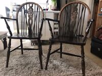 Two Rustic Chairs Solid Wood