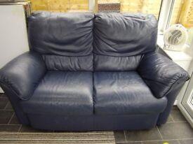 Soft Italian Leather 2 seater sofa Double settee