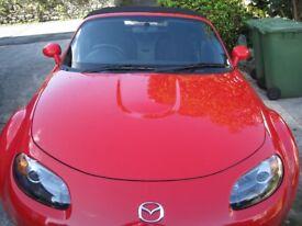 Mazda MX-5, 2008 (08) Red Convertible, Manual Petrol, 21,876 miles