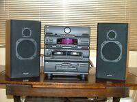 JVC CA-E48 Hi fi unit with Panasonic Speakers