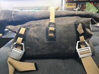 Brown Leather holdall, large bag great for holiday/cabin bag. Two straps need to be fixed.