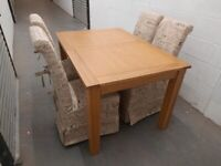 NEW Harvey's Brookes Dining Table + 4 Chairs RRP £999 (MINOR DAMAGE)