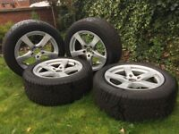 Winter run flat tyres BMW 5 series 225/55 R17