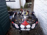 125cc Rotax Minimax Kart 99% New parts & extras (perfect for new karter etc) + smaller driver kit