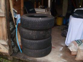 4 Bridgestone Tyres 255/65/R17.